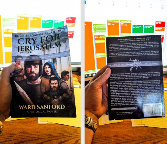 Just received the proof copy for pre-publication review for final changes: EPIC Historical Fiction - Book 2 (155,319 words) of a 4-book Series
